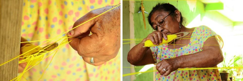 Jak zrobić hamak - Indianka przy pracy